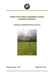 Wash Pits Field Euston Suffolk Report