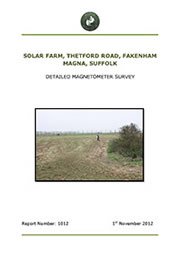 Solar Farm Fakenham Magna Suffolk Report